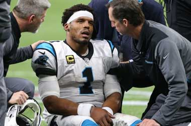 Cam Newton being examined after being hit vs New Orleans Saints: January 7th 2018